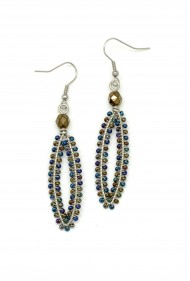 Sliver Bead Earrings