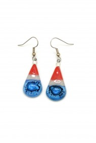USA Teardrop Glass Earrings