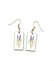 Lavender Flower Earrings