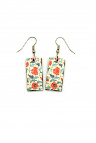 Chinese Red Wallpaper Earrings