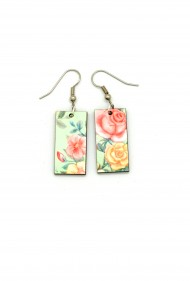Mint Rose Dangles