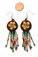 Embroidered Fringe Dangles