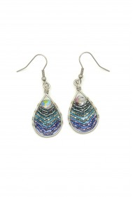 Beaded Wire Teardrops