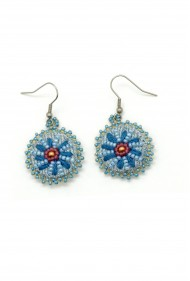 Denim Daisy Earrings