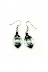 Small Glass Drop Earrings