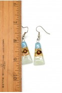Glass Triangle Earrings