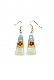 Triangle Glass Earrings