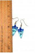 Triangle Point Glass Earrings