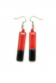 Color Blocked Rectangle Earrings