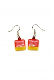 Color Blocked Square Earrings