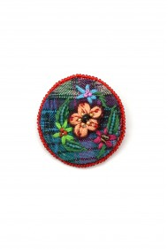 Embroidered Flower Pins