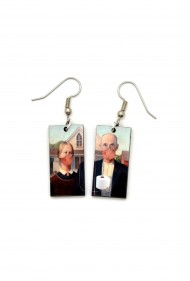 American Gothic Parody Earrings