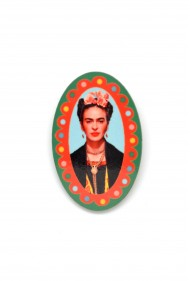 Oval Frida Kahlo Pin