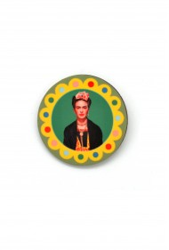 Round Frida Kahlo Pin