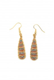 Striped Teardrop Earrings