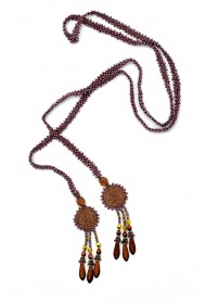 Leather Spiral Lariat