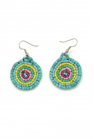 Round Ceramic Bead Earrings