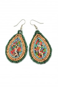 Ceramic Teardrop Earrings