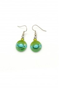 Glass Tiny Round Earrings