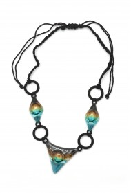 Glass Geometric Necklace