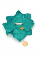 Jumbo Leather Flower Pin