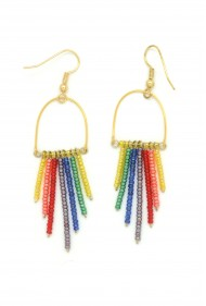 Rainbow Fringe Earrings