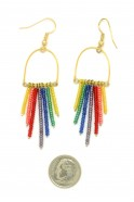 Rainbow Horseshoe Dangles