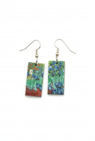 Van Gogh Iris Earrings