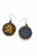 Denim Flor Earrings