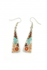 Swirl Triangle Earrings