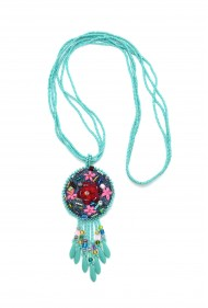 Frida Fringe Denim Necklace