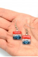 USA Square Glass Earrings