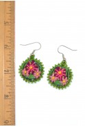 Embroidery Floral Earrings
